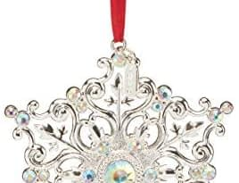 Lenox 2020 Snow Majesty Ornament, 0.35 LB, Metallic